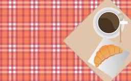 Kaffe och giffel Royaltyfria Foton
