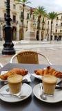 Kaffe och giffel Royaltyfria Bilder