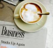 Kaffe- och godaaktiemarknadnyheterna Arkivfoto