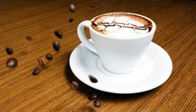 Kaffe och kaffebönor Royaltyfri Bild