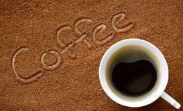 Kaffe och kaffepulver Royaltyfria Bilder