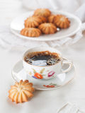 Kaffe och kaka Arkivbild