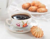 Kaffe och kaka Royaltyfri Fotografi