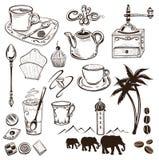Kaffe och kakao Arkivfoton