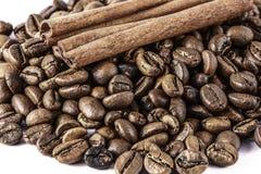 Kaffe och kanel Royaltyfri Bild