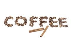 Kaffe och kanel Arkivbild