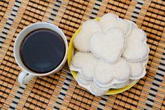 Kaffe och kex Fotografering för Bildbyråer