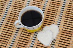 Kaffe och kex Arkivbild