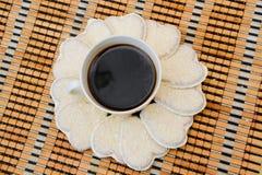 Kaffe och kex Royaltyfria Foton