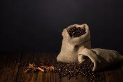 Kaffe och kryddor Fotografering för Bildbyråer
