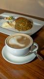 Kaffe och mål Arkivbilder