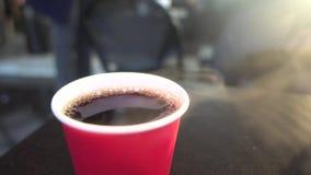 Kaffe och morgon, affär arkivfilmer