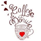 Kaffe och munk Arkivbilder