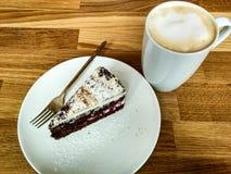 Kaffe och ostkaka Arkivbilder