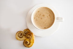 Kaffe och palmiers Royaltyfri Bild