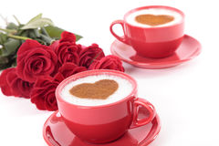 Kaffe och ro Arkivbild