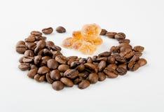Kaffe och socker Royaltyfri Foto