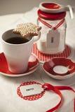 Kaffe och socker Arkivfoton