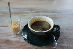 Kaffe och socker Fotografering för Bildbyråer
