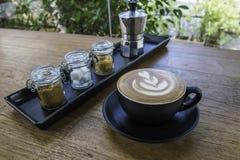 Kaffe och socker tre Fotografering för Bildbyråer