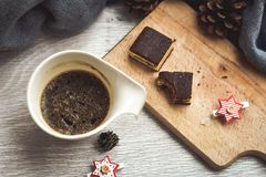 Kaffe och tårta Arkivbild