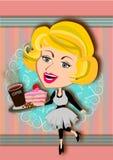 Kaffe och tårta vektor illustrationer