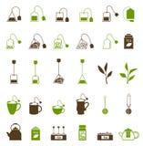 Kaffe- och tekoppsymbol Fotografering för Bildbyråer