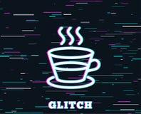 Kaffe- och telinje symbol Varmt drinktecken royaltyfri illustrationer