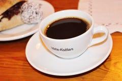 Kaffe på bakelser Vete-Katten Royaltyfria Bilder