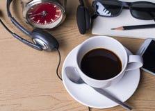 Kaffe på ferie Arkivfoto