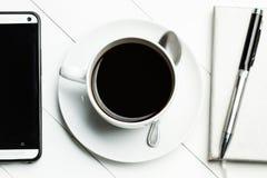 Kaffe på kontoret Arkivfoton