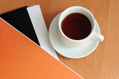 Kaffe på tabellen Royaltyfri Fotografi