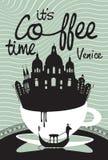 Kaffe på Venedig Arkivfoto