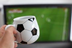 kaffe rånar att hålla ögonen på för tv Royaltyfria Bilder