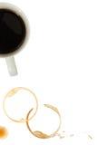 kaffe rånar fläckar royaltyfri bild