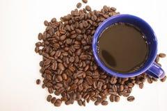 Kaffe rånar från kaffebönor Royaltyfri Bild