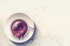 Kaffe rånar med färgstänk royaltyfri illustrationer