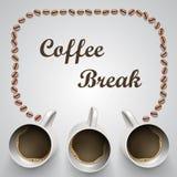 Kaffe rånar med meddelandet Royaltyfri Fotografi