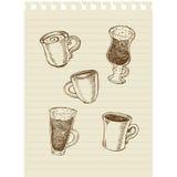Kaffe sketch1 Arkivfoto