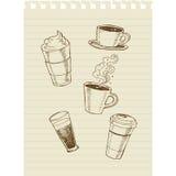 Kaffe sketch2 Fotografering för Bildbyråer