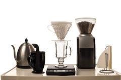 Kaffe som bryggar stationen Arkivbild