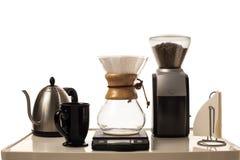 Kaffe som bryggar stationen Royaltyfria Bilder