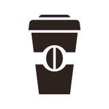 Kaffe som går symbol vektor illustrationer