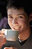kaffe som har mannen Royaltyfri Foto