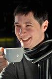 kaffe som har mannen Arkivfoto