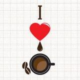 kaffe som jag älskar royaltyfri illustrationer