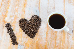 kaffe som jag älskar Fotografering för Bildbyråer