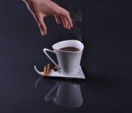 kaffe som jag önskar Fotografering för Bildbyråer