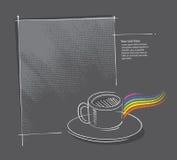 kaffe som tecknar frihandssymbolen Royaltyfri Fotografi