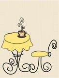 kaffe stylized tabell Royaltyfria Foton